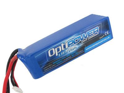 Optipower Ultra 50C Lipo Cell Battery 5000mAh 6S 50C