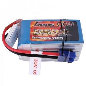 Gens ace 1250mAh 22.2V 60C 6S1P Lipo Battery Pack